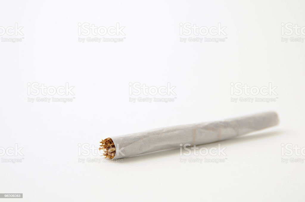 Cigarette, Hand Rolled, Isolated on White Background stock photo