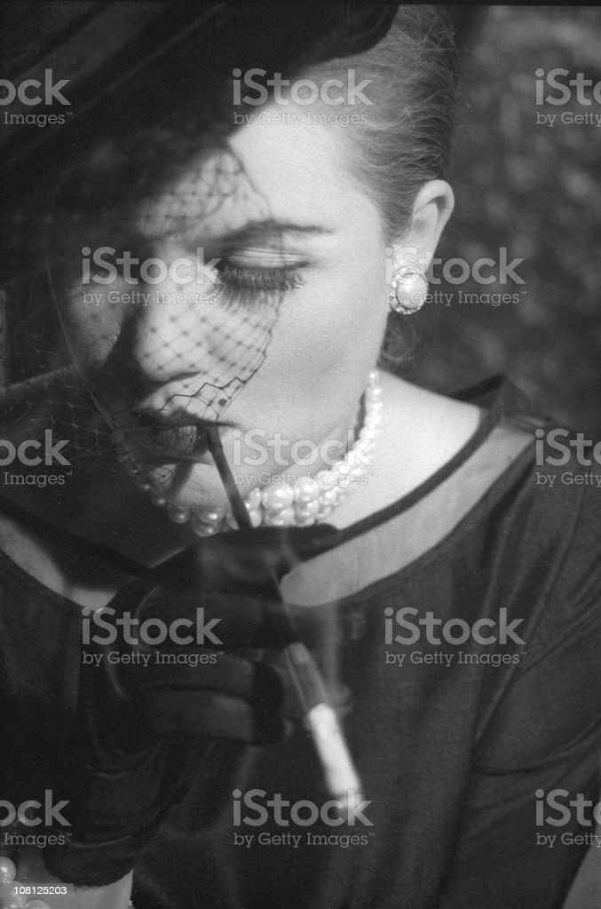 Cigarette holder royalty-free stock photo