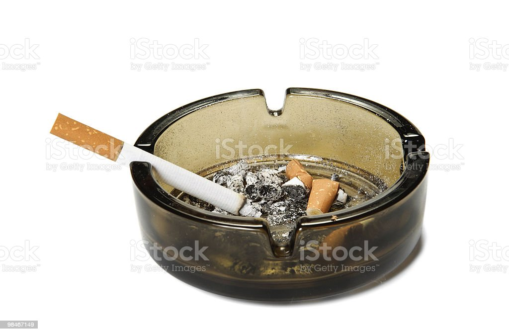 Cigarette in ashtray royalty-free stock photo