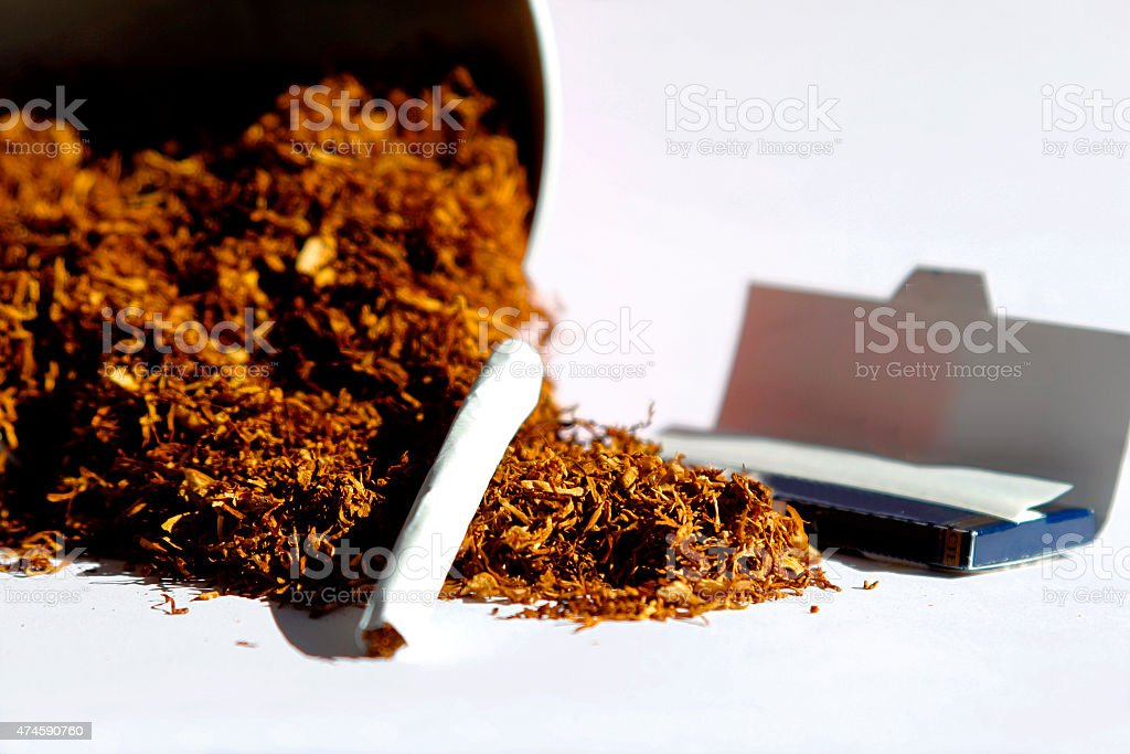 Cigarette In Loose Tobacco stock photo