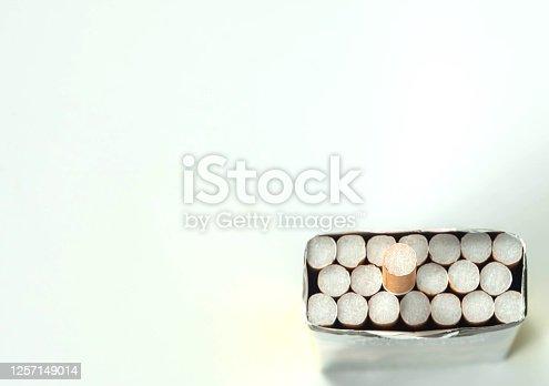 istock cigarette inside package 1257149014