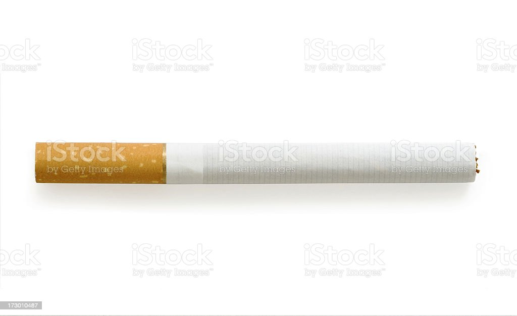 Cigarette isolated stock photo
