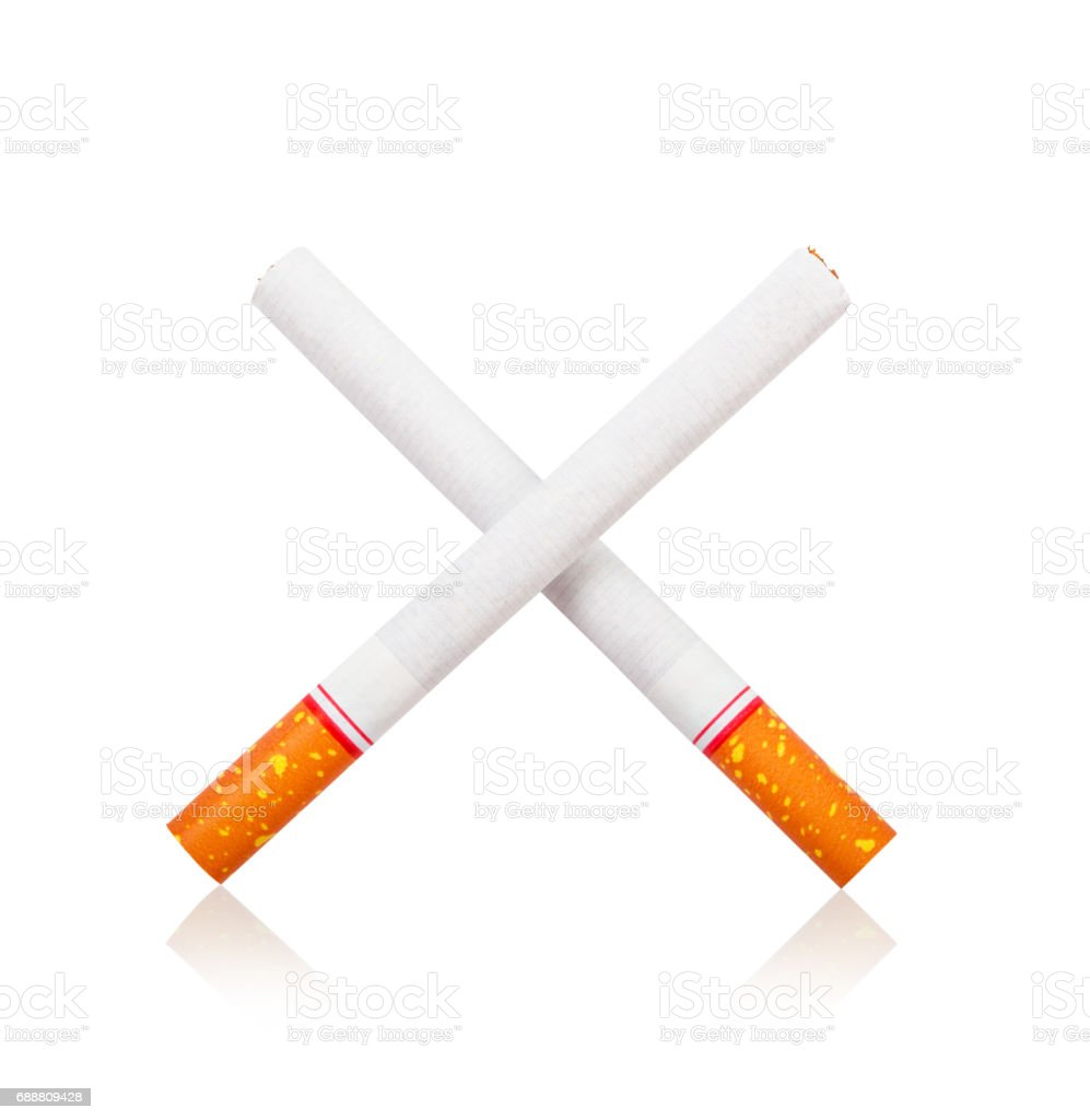 Cigarette isolated white background stock photo