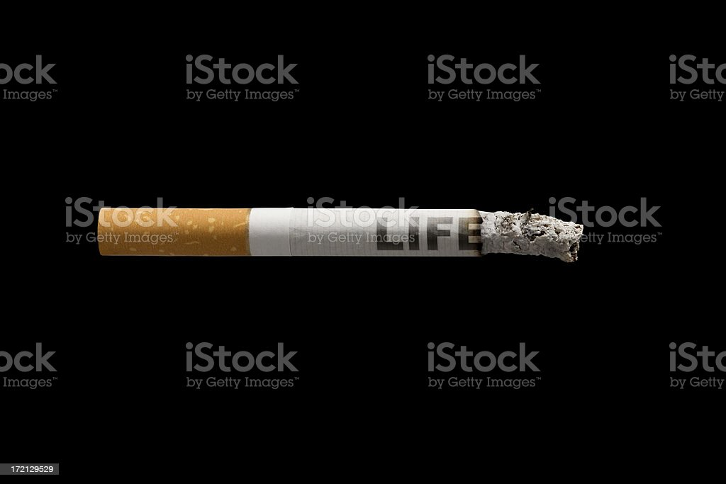 Cigarette & Life (Clipping Path) royalty-free stock photo