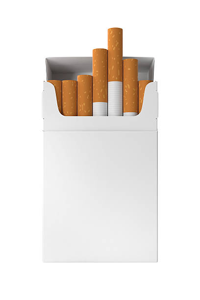 cigarette pack blank 20 sticks hard corner design template open - paquete cigarrillos fotografías e imágenes de stock