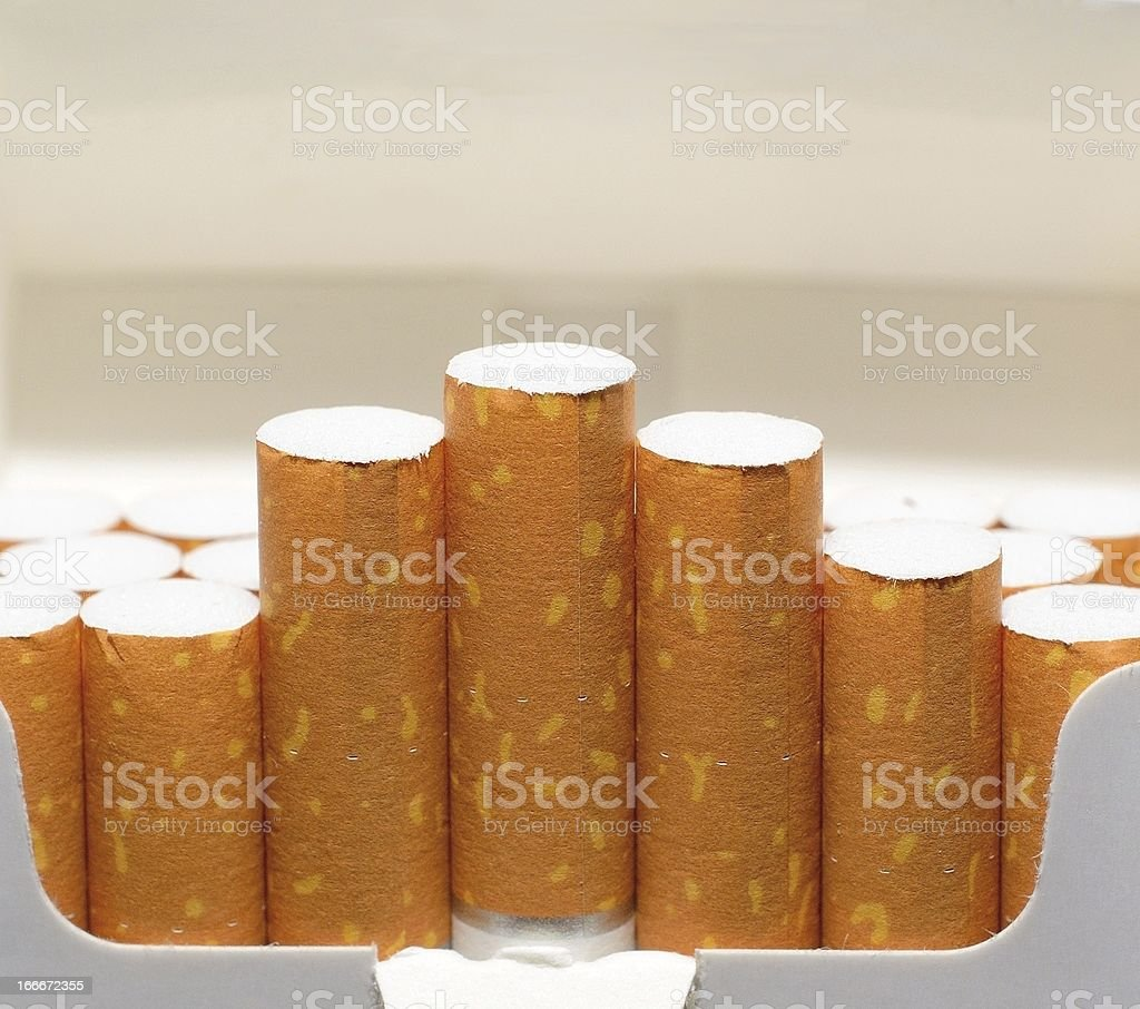 Cigarette pack royalty-free stock photo