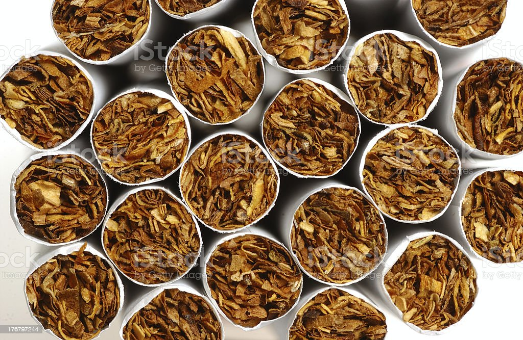Cigarette stack royalty-free stock photo