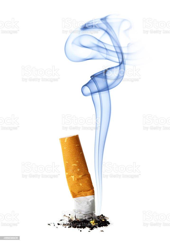 Canhoto com cigarro de fumo - foto de acervo