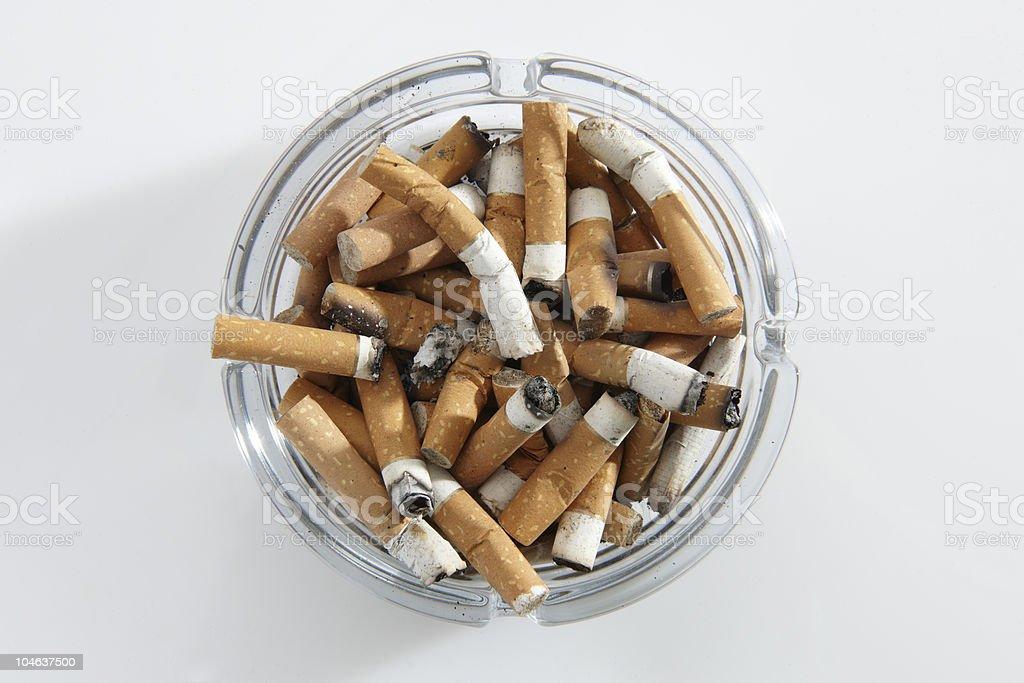 cigarette stubs stock photo