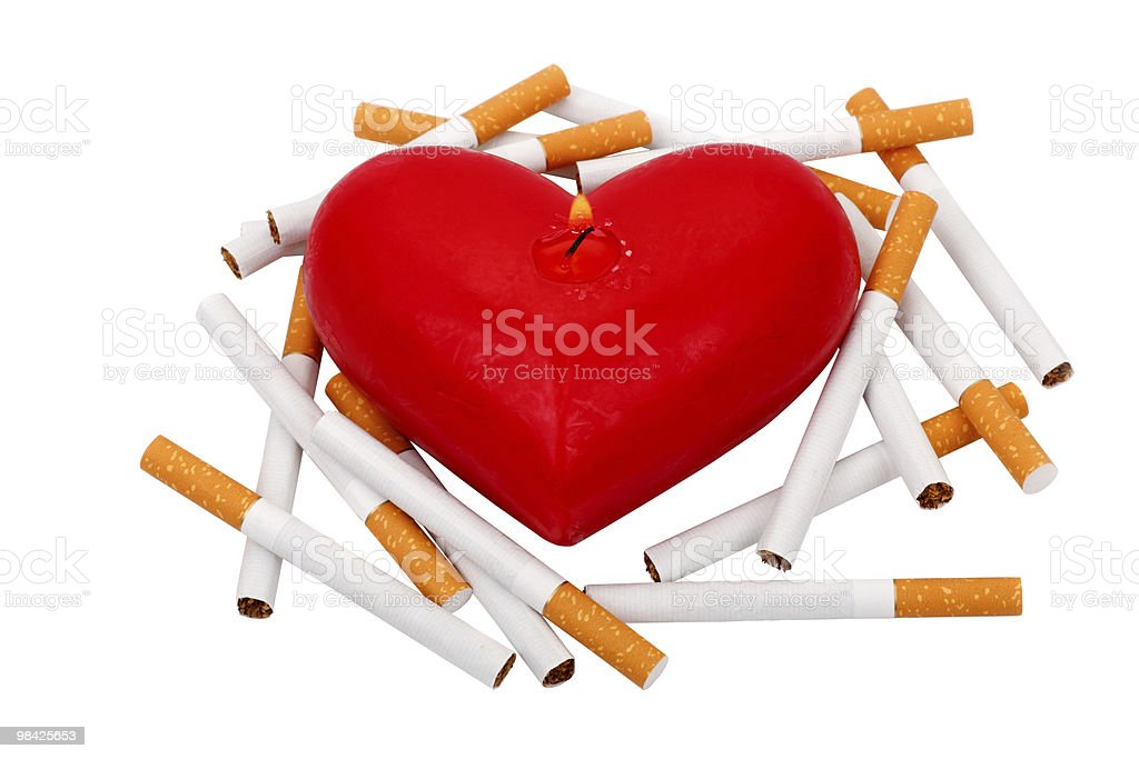 Cigarettes and Heart royalty-free stock photo