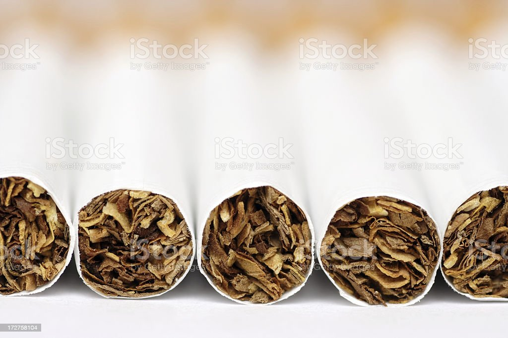 Cigarettes close-up royalty-free stock photo
