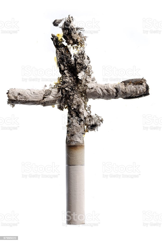 Cigarettes cross royalty-free stock photo