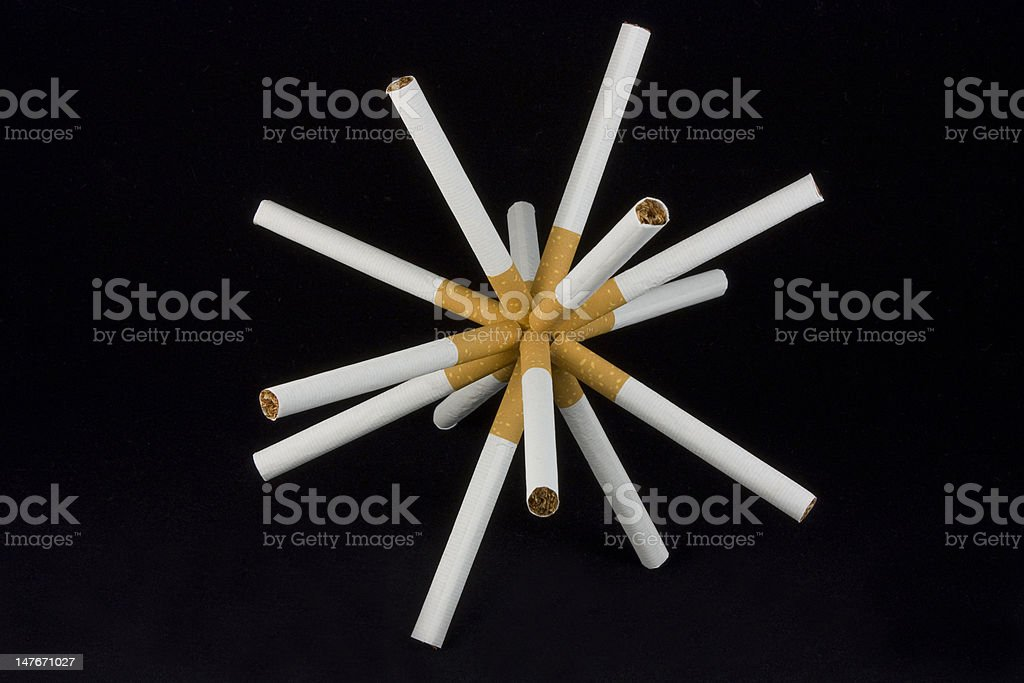 cigarettes explosion royalty-free stock photo
