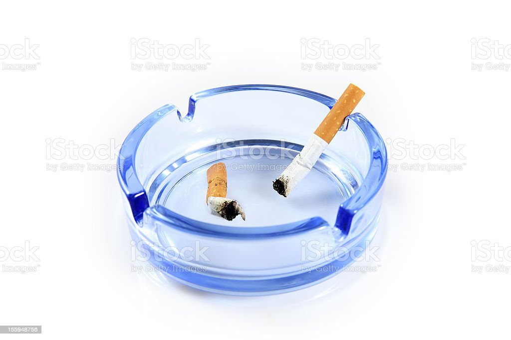 cigarettes in the ashtray royalty-free stock photo