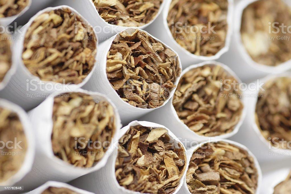 Cigarettes macro royalty-free stock photo