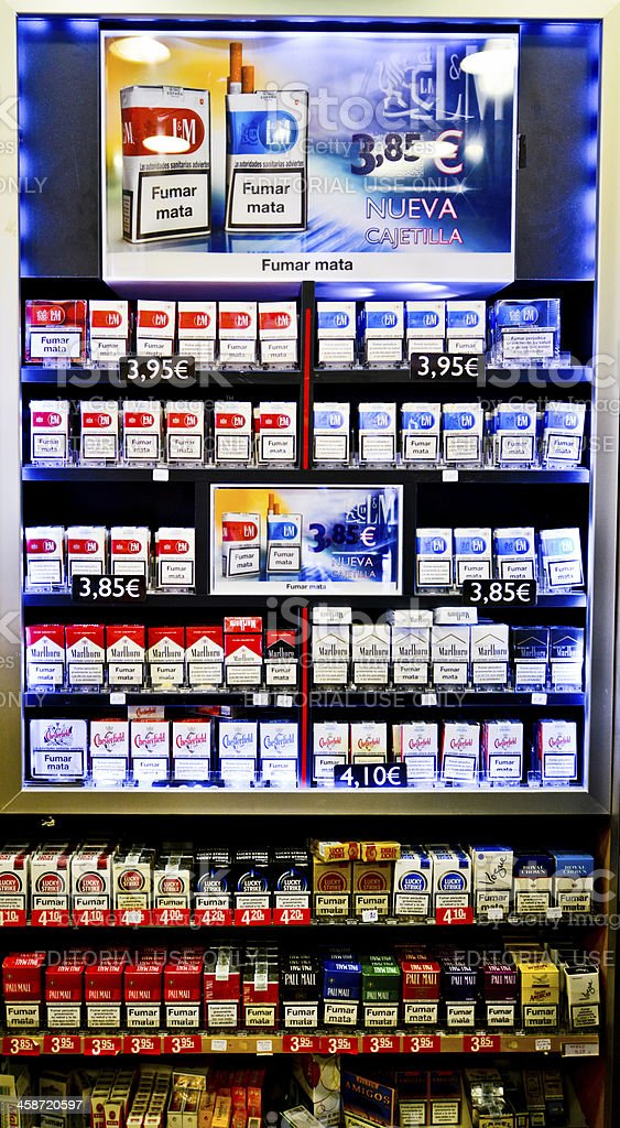 Cigarettes Vending Machine, Barcelona, Spain stock photo