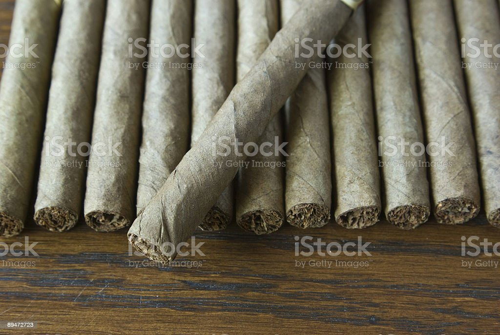 cigars in a row royalty free stockfoto