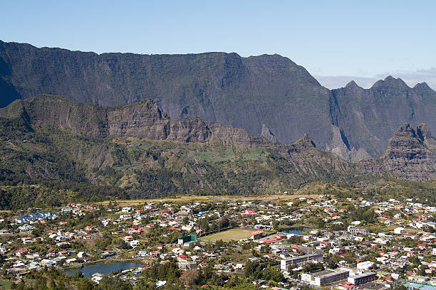 Cilaos, village, Île de la Réunion, Montagne, France stock photo