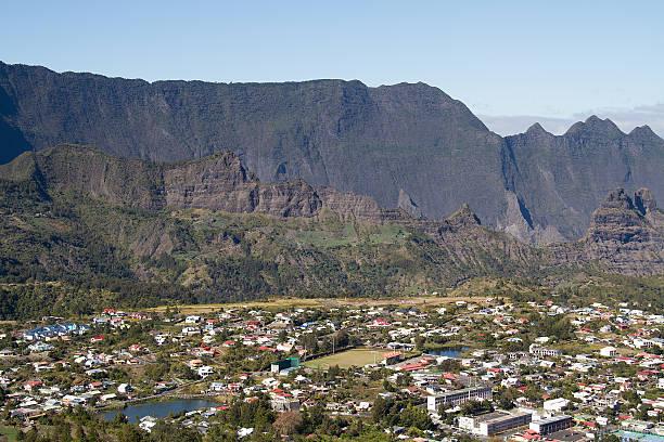 Cilaos, village, Reunion Island, Mountain, France stock photo