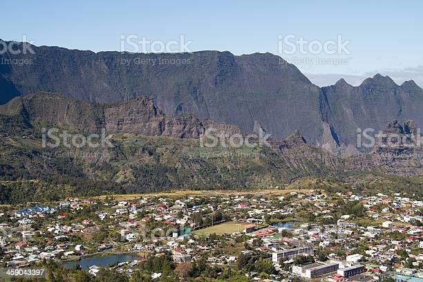 Cilaos Village Reunion Island Mountain France Stock Photo - Download Image Now