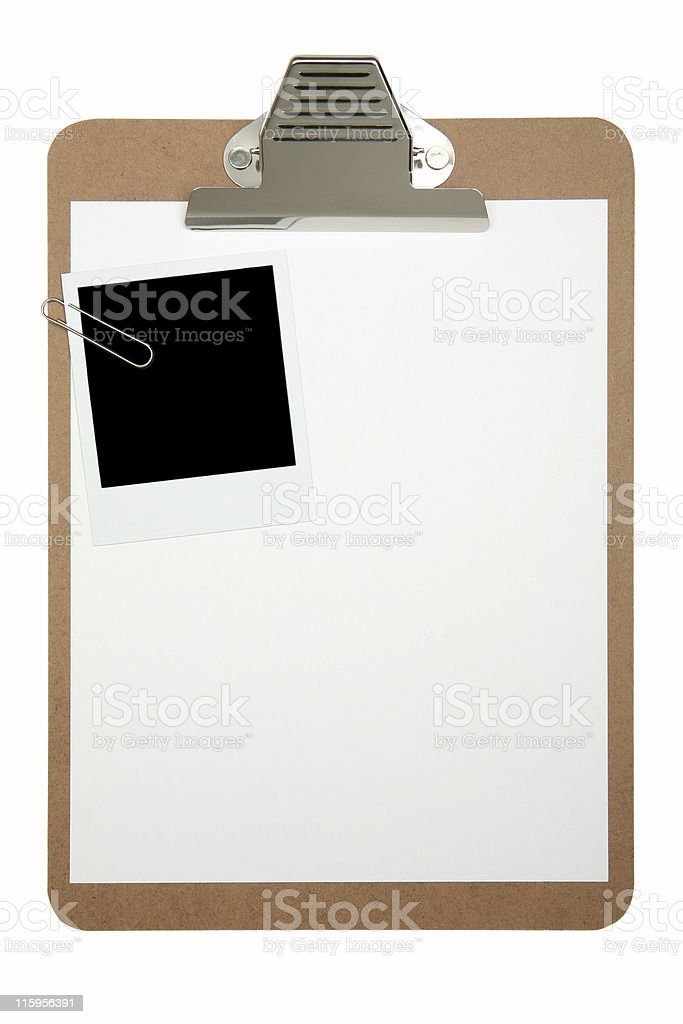Cilpboard and photo film stock photo