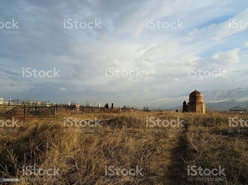 Cimetière de Baytik, Kirghizstan stock photo