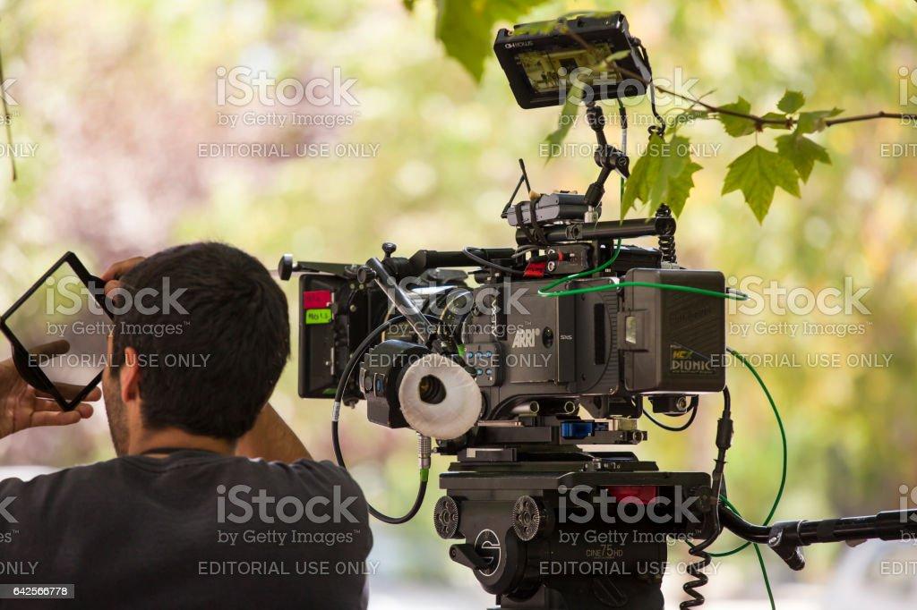 Cinamatographer mit Arri Alexa Cinema Kamera – Foto