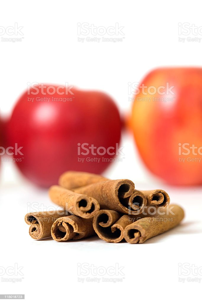 Cinamon And Apples royalty-free stock photo