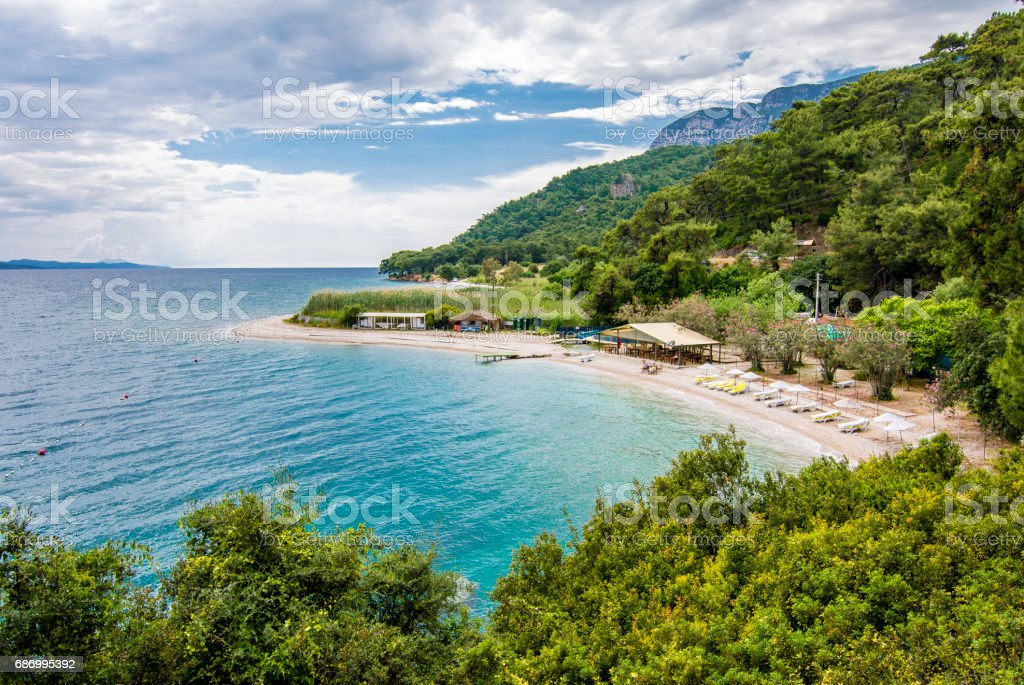 Cinar Beach in Turkey stok fotoğrafı