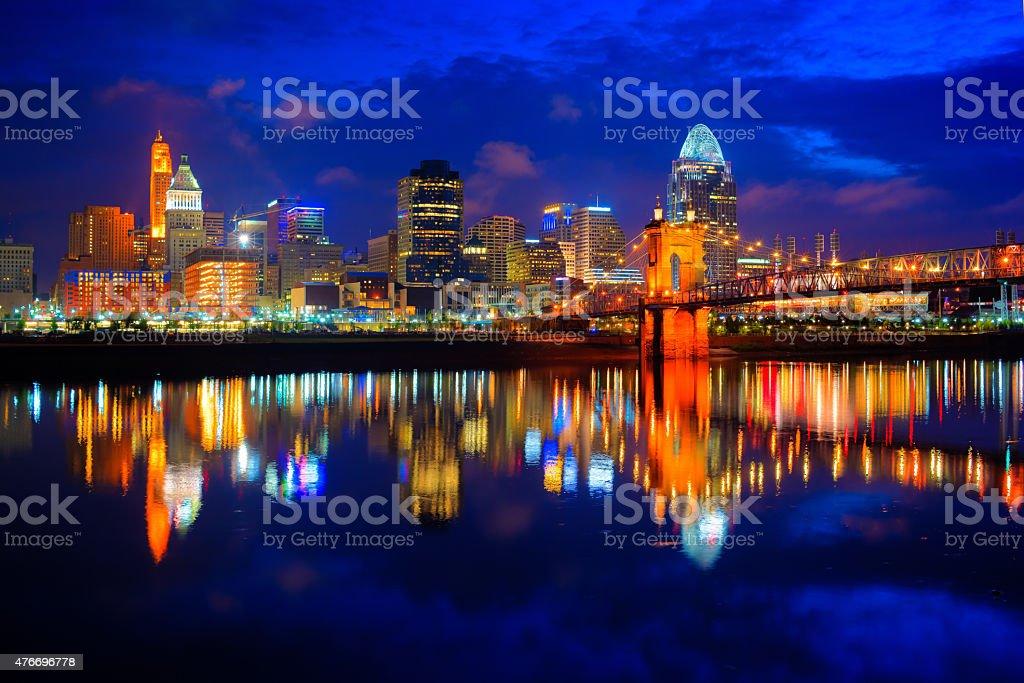 Cincinnati at Sunrise stock photo
