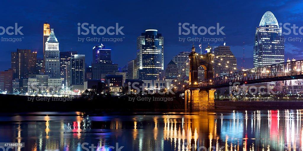 Cincinnati dawn stock photo
