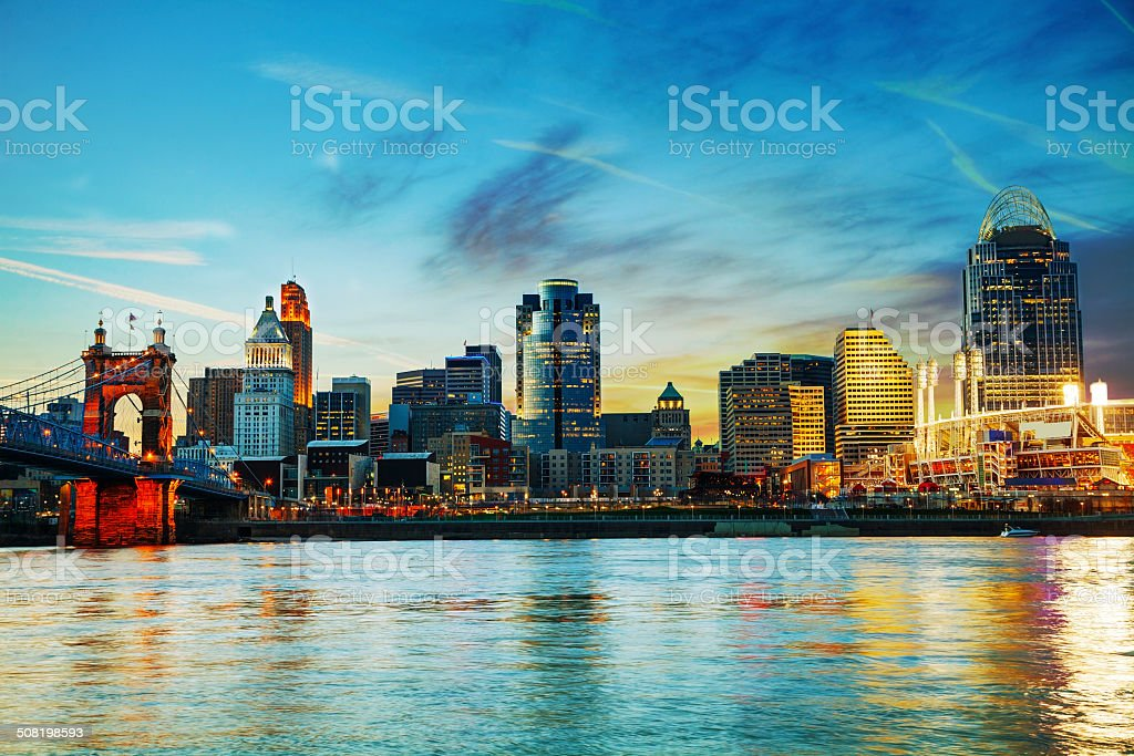 Cincinnati downtown overview royalty-free stock photo