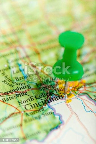 Imagen De Mapa De La Ciudad De Cincinnati Ohio