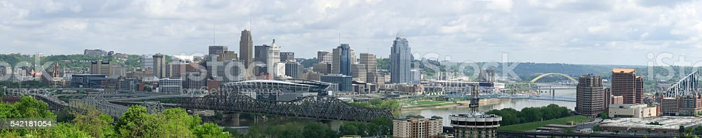 Cincinnati Panorama 2016-1 stock photo