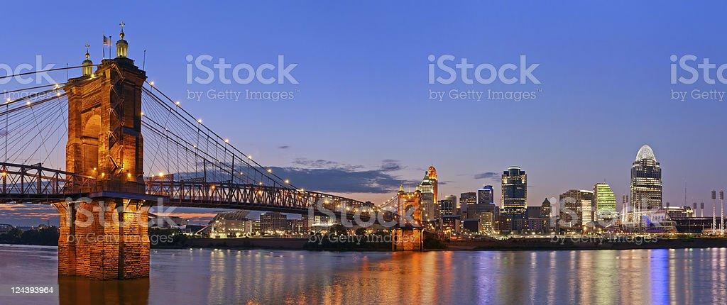 Cincinnati skyline panorama. stock photo