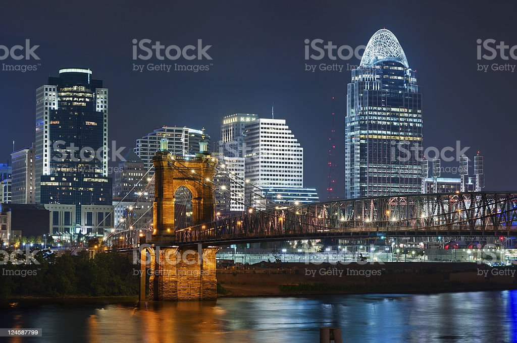 Cincinnati skyline. stock photo