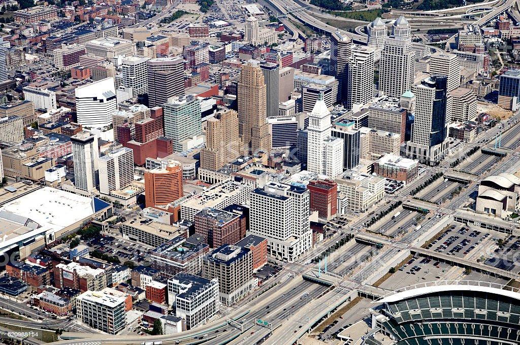 Horizonte de Cincinnati  foto royalty-free