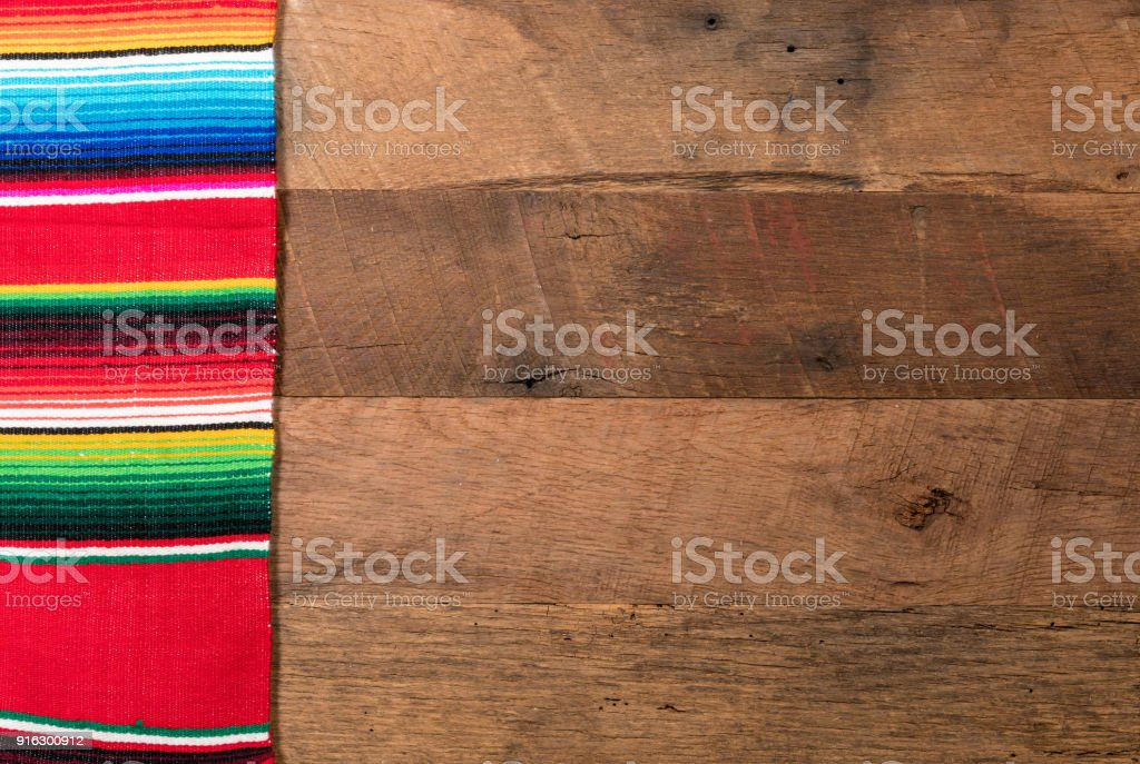 Cinco de Mayo background on wooden boards stock photo