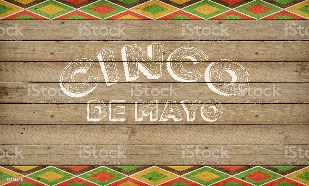 Cinco de Mayo Mexican celebration in the USA banner stock photo