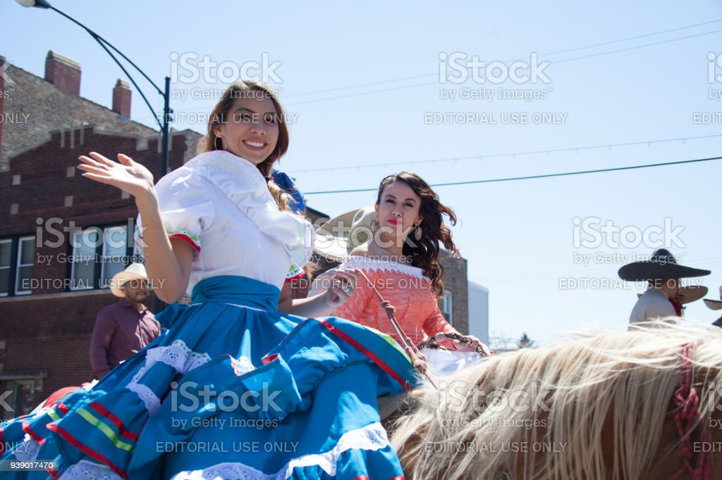 Cinco De Mayo Parade Chicago 2017 stock photo