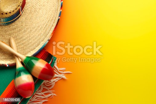 A sombrero and maracas.