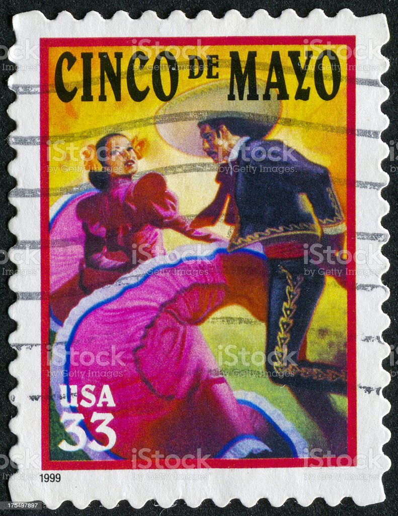 Cinco De Mayo Stamp stock photo