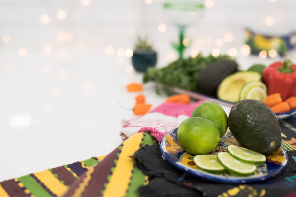 cinco de mayo stilleben - cactus lime bildbanksfoton och bilder