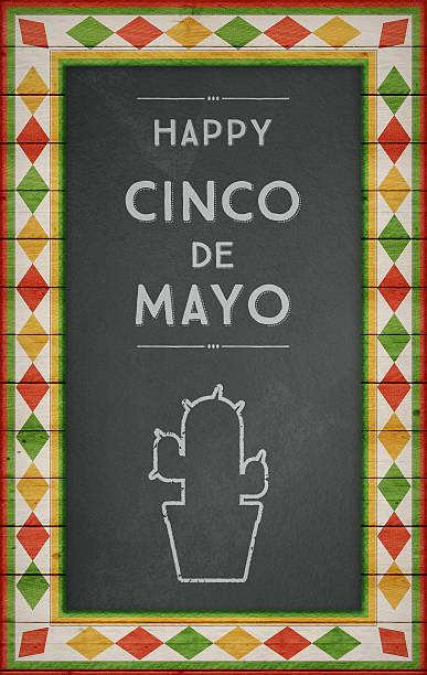 cinco de mayo, usa mexican celebration, backgrounds. blackboard with text - cinco de mayo party stock photos and pictures