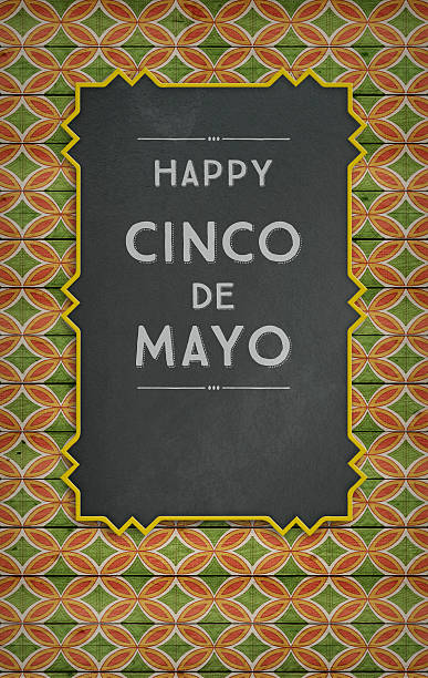 Cinco de Mayo, USA Mexican Celebration, Backgrounds. Blackboard with text stock photo