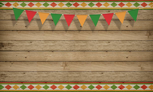 Cinco De Mayo USA Mexican Celebration Backgrounds Wood Copy Space Stock Photo
