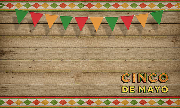 cinco de mayo, usa mexican celebration, backgrounds. wood copy space - cinco de mayo stock photos and pictures
