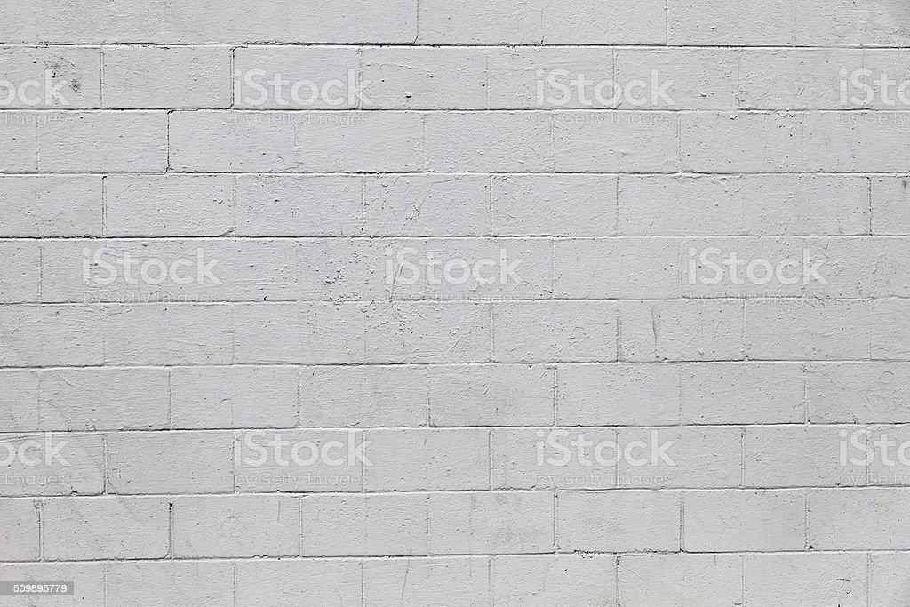 Cinder block wall stock photo