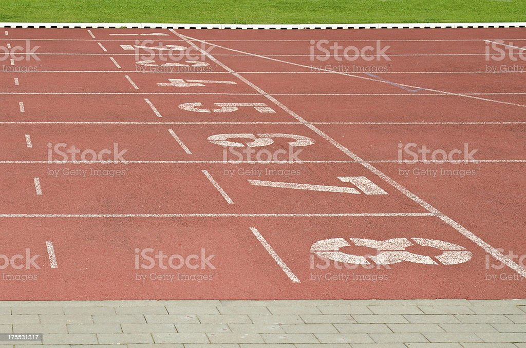 Royalty Free Sport Track And Field Stadium Construction Frame