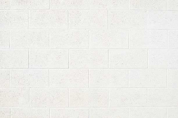 cinderblock wall - block shape stock pictures, royalty-free photos & images